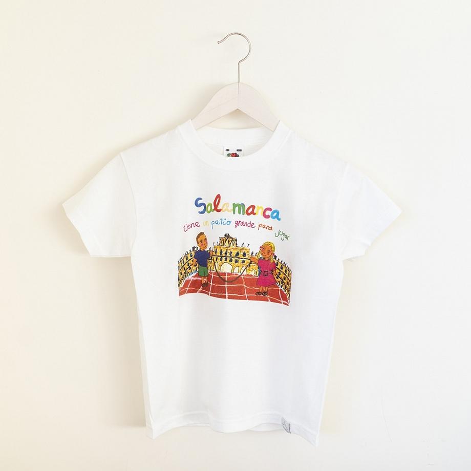 Camiseta Niño Salamanca Patio Blanco