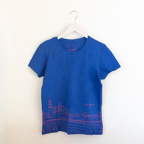 Camiseta Skyline Mujer Azul