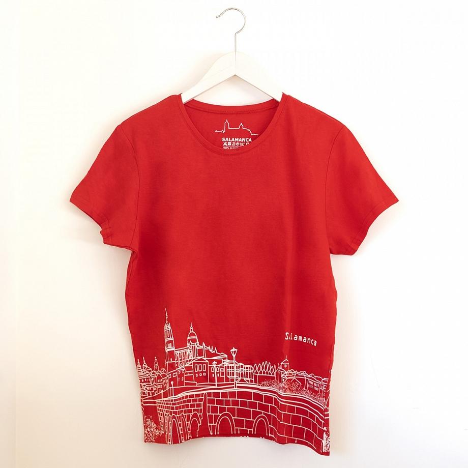 Camiseta Skyline Mujer Roja