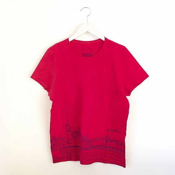 Camiseta Skyline Mujer Rosa