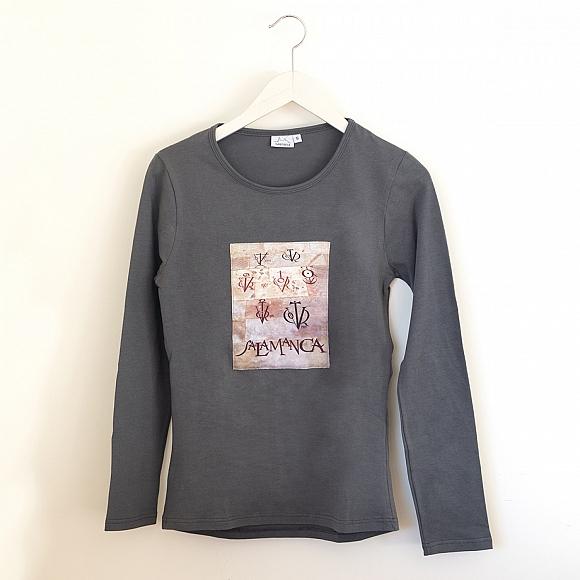 Camiseta Vítores Mujer Manga Larga Gris