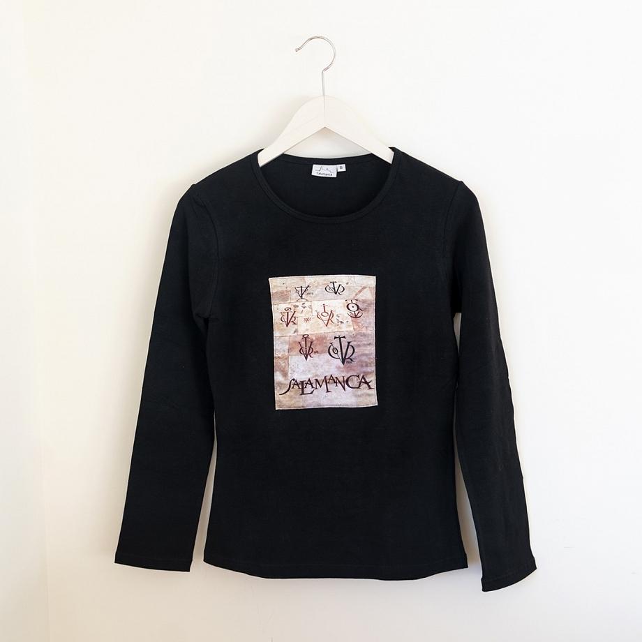 Camiseta Vítores Mujer Manga Larga Negra