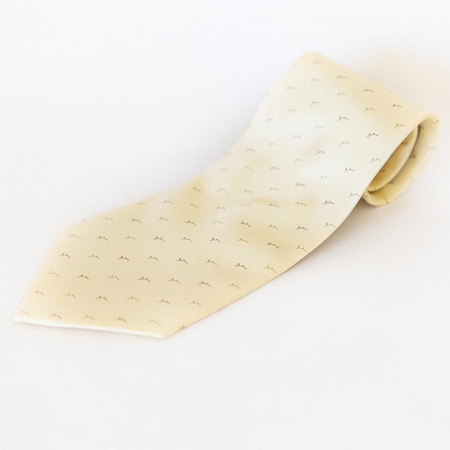Corbata Seda Estampada Amarilla