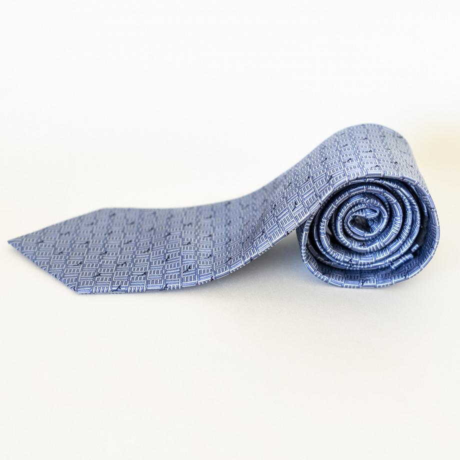 Corbata Seda Gris Azulado
