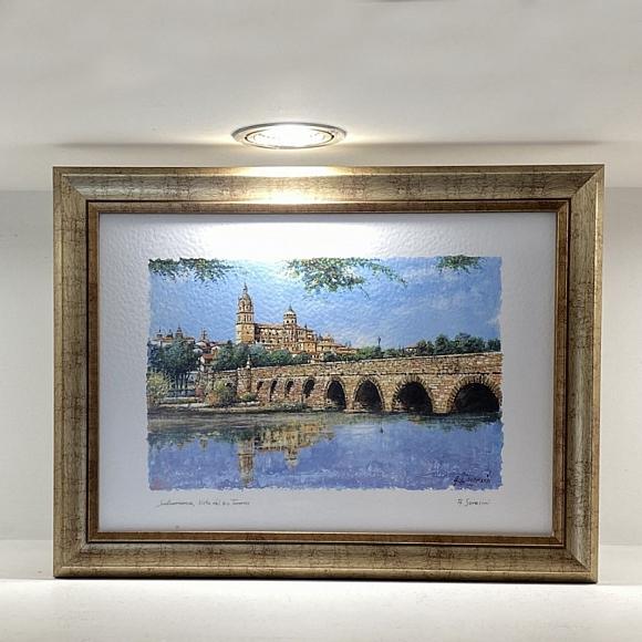 Cuadro Puente Romano y Catedral