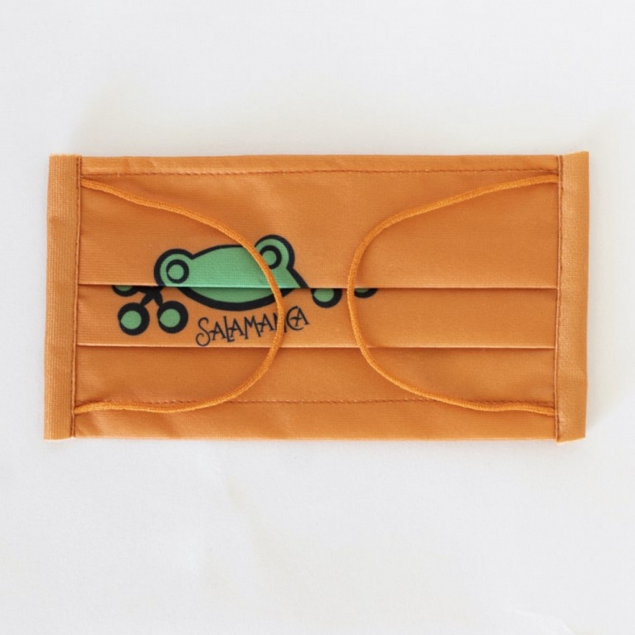 Mascarilla Infantil Rana Naranja