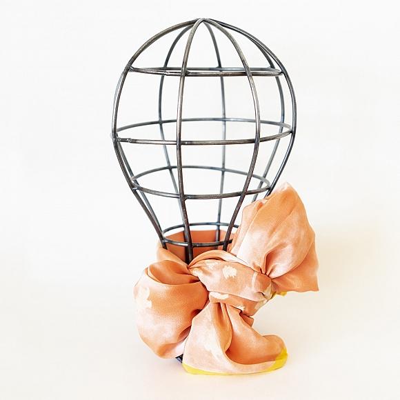 Pañuelo Grande seda naranja
