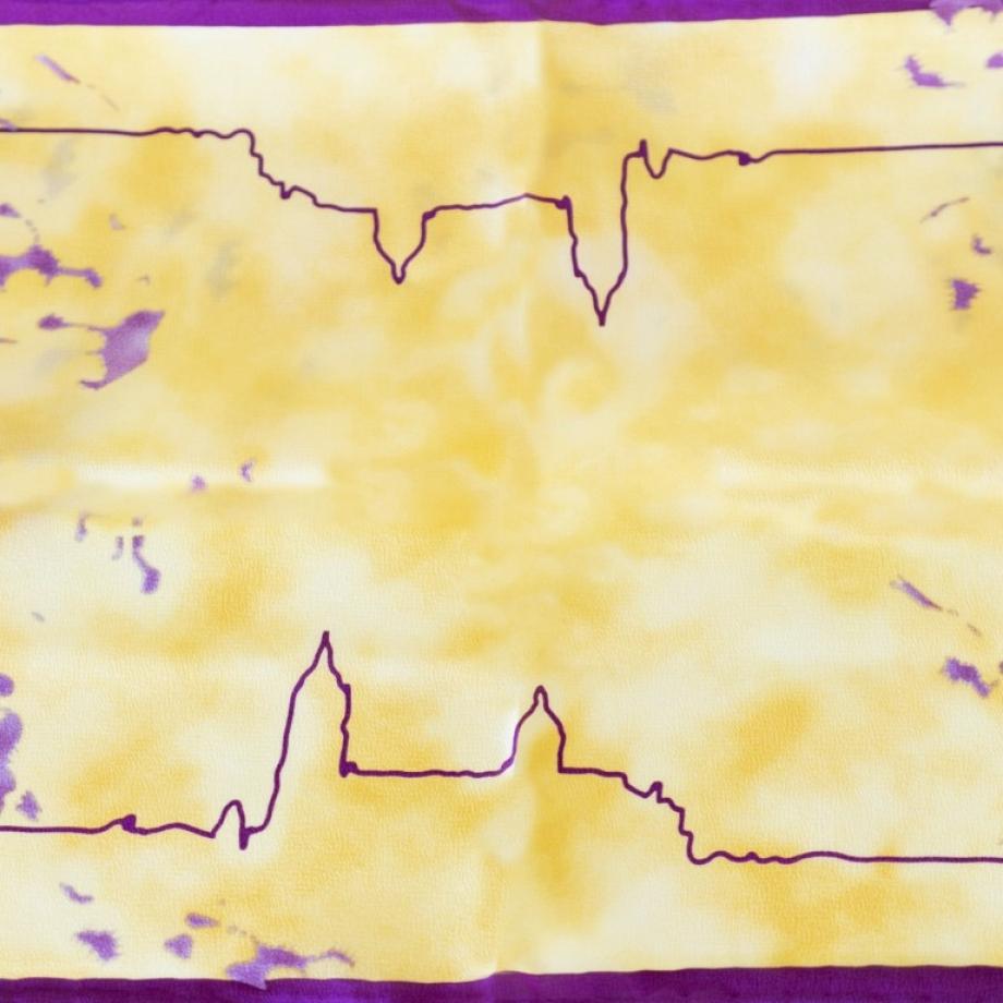 Pañuelo pequeño de seda amarillo