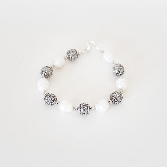 Pulsera Plata Charra y Perlas Cultivadas (602)